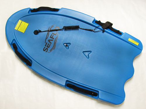 Bodyboard With Leash And Grab Handles - Kneeboard Wave Slider Boogie-board 47